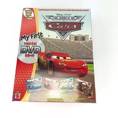 New Disney Pixar Cars My First Mattel DVD Game