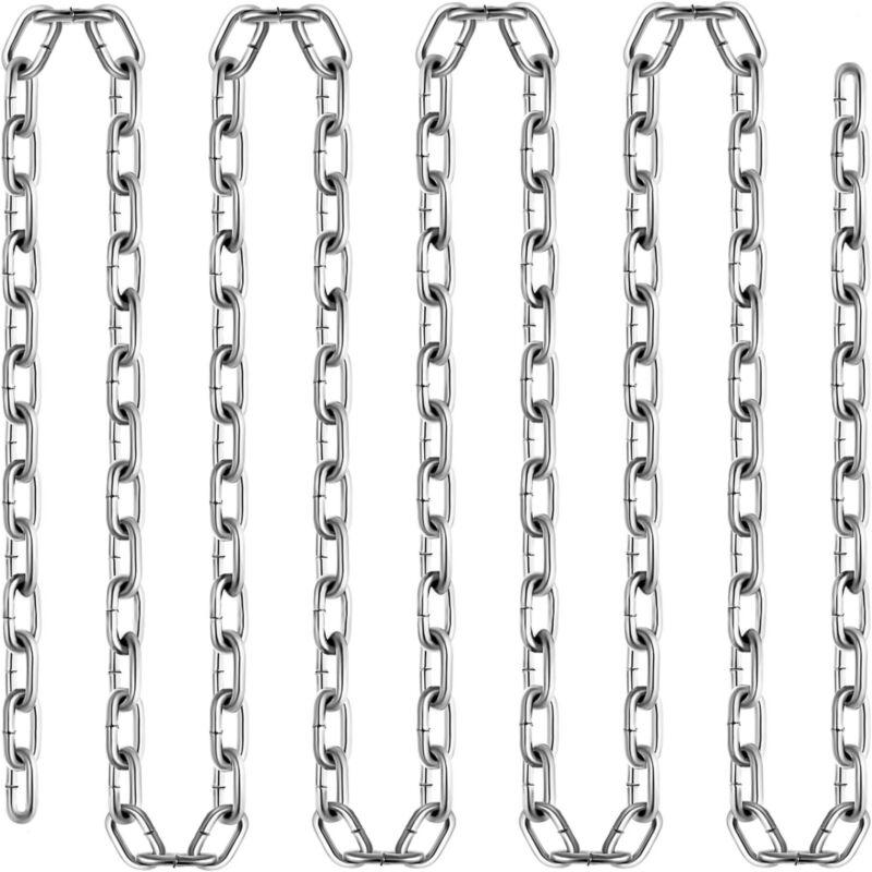 "VEVOR Zinc Plated Chain 3/16"" x 50"
