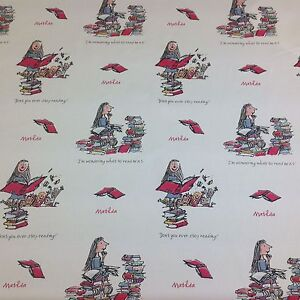 Ashley Wilde Official Roald Dahl-MATILDA 100% Cotton Fabric by the Metre.