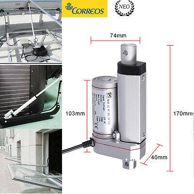 750N Motor Actuador Lineal Multifunción Para Abrepuertas Eléctricos 50MM 12V