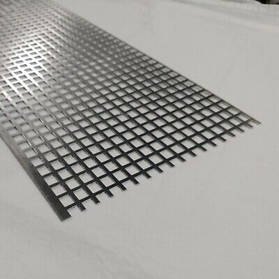 Perforated Metal Aluminum Sheet 116 Thick 12 X 36 X 12 Square Hole