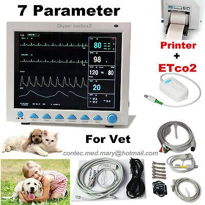 Us Etco2 Veterinary Vital Signs Icu Patient Monitor Capnograph Printerpet Vet