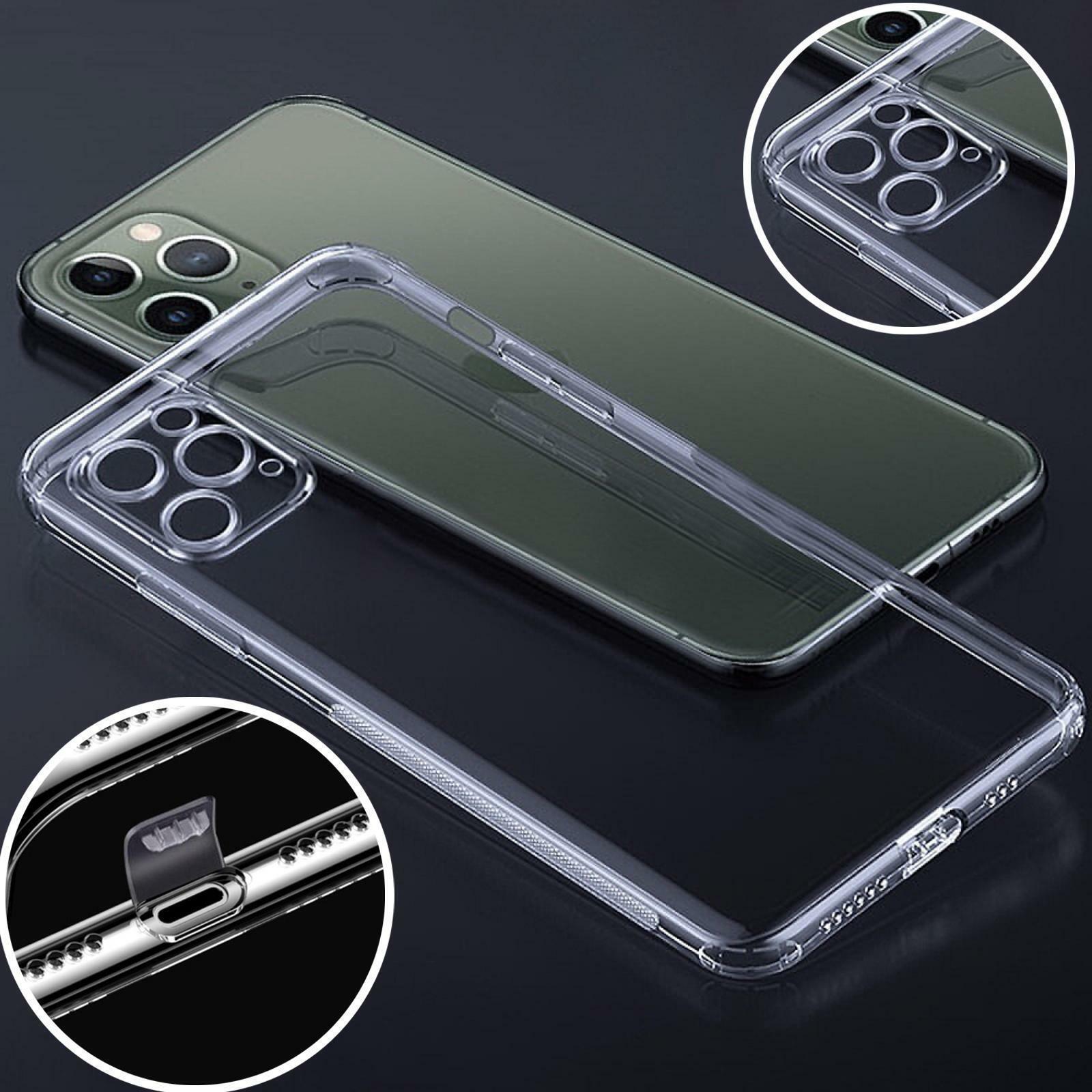 Handy Hülle Schutzhülle TPU Silikon Case Tasche Schutz Cover Bumper Transparent