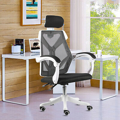 Heavy Duty Home Office Mesh Chair Highback Desk Ergonomic Gaming Swivel Headrest