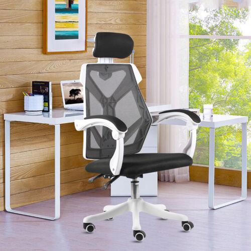 Heavy Duty Home Office Mesh Chair Highback Desk Ergonomic Gaming Swivel Headrest