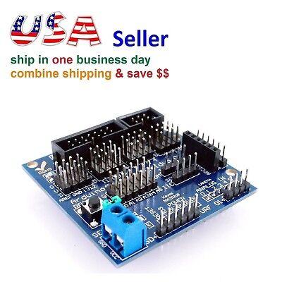 Sensor Expansion Board Shield V5.0 Arduino Uno Mega Digital Analog Servo Motor