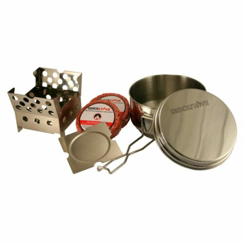 QUICKSTOVE  COOK KIT FOR OUTDOOR CAMPING OR EMERGENCY PREPARDNESS HOLDS 7 CUPS