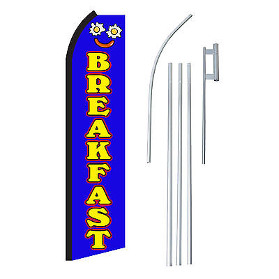 Breakfast Bluyel 15 Complete Swooper Flag Starter Kit Bow Feather