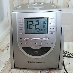 Timex Indiglo T619T AM/FM Radio CD Player Alarm Clock Snooze w/ Nature Sounds