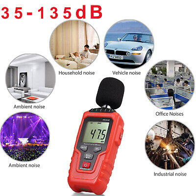 Digital Sound Pressure Level Meter 35-135db Decibel Noise Measurement W Backlit