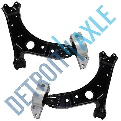 Both (2) New Front Lower Control Arm w/ Bushing for VOLKSWAGEN Jetta AUDI