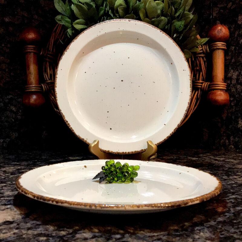 "RARE  Stonehenge Midwinter ~ CREATION    8"" Salad Plates  Set of (2)  PRISTINE!"