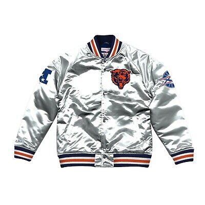 Mitchell & Ness Silver NFL Chicago Bears Championship Satin -