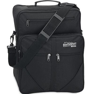 Flugumhänger SOUTHWEST Arbeitstasche Herrentasche Handgepäck Tasche Schwarz 15L