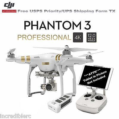 DJI Phantom 3 Professional RTF Quadcopter RC Drone W/4K Camera 3-Axis Gimbal US