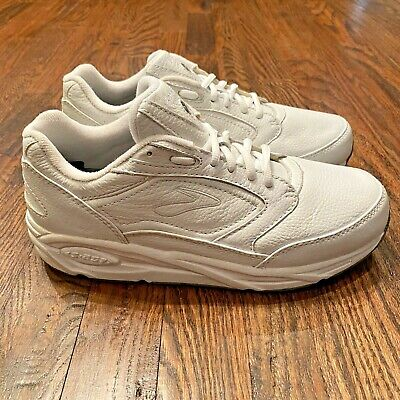 Brooks Addiction Motion White Leather Walking Shoes Women's Size 9.5 Wide