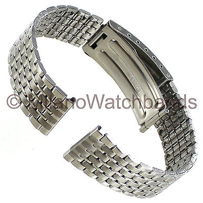 20mm Morellato Stainless Steel Straight End Fold Over Clasp Mens Watch Band XL
