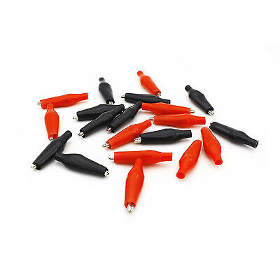 Insulated Alligator Clips Test Probe Lead Crocodile Clamps For Electrical Cable