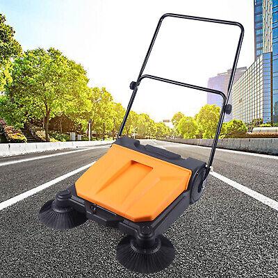 26 Industrial Manual Push Sweeper Walk-behind Floor Sweeping Sweeper Usa Stock