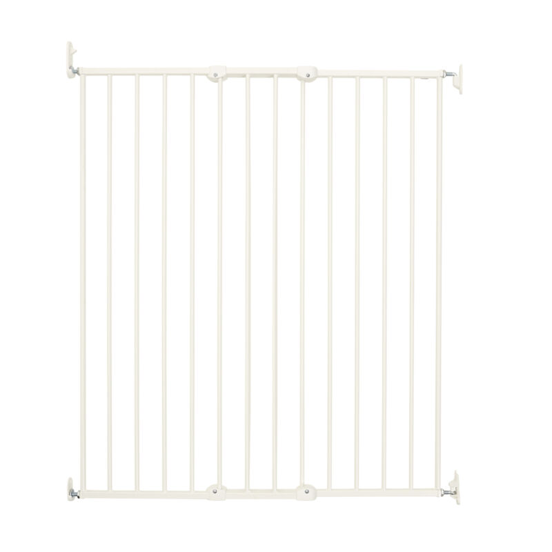 BabyDan Pet Design Extra Tall 42 Inch Wall Mounted Pet Safety Gate, White (Used)
