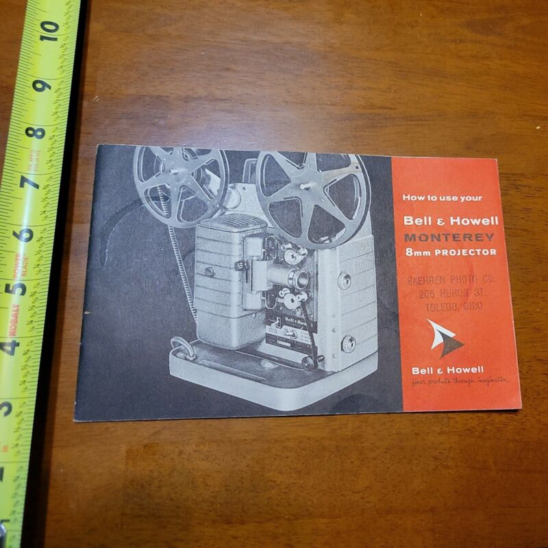 BELL & HOWELL MONTEREY 8MM PROJECTOR MANUAL RARE OLD VINTAGE