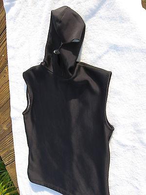 Fleece Hooded Wetsuit - RARE LARGE Men's Hooded Vest Aeroskin California FLEECE POLARTEC = 1.5 MIL
