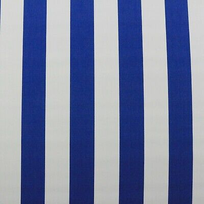 - SUNBRELLA CABANA STRIPE MEDITERRANEAN BLUE OUTDOOR FURNITURE FABRIC BTY 54