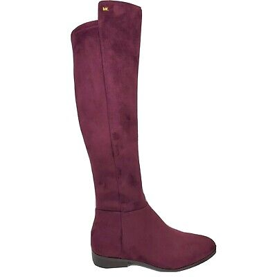Michael Kors Bromley Womens Over the Knee Boots Size 9.5 M Plum Purple MK Suede