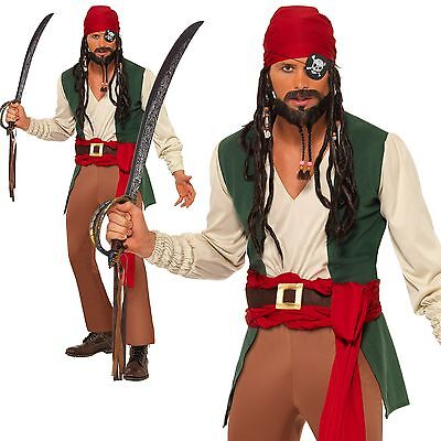 Mens Drunken Pirate adult dressing up costume outfit male smiffys pirates set](Male Pirate Outfit)