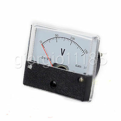 Us Stock Analog Panel Volt Voltage Meter Voltmeter Gauge Dh-670 0-150v Dc