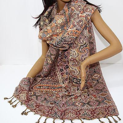 Schal Damenschal Classic Stil Warmer Langschal Orient Jamawar 200 x 70 cm 2 Classic Schal