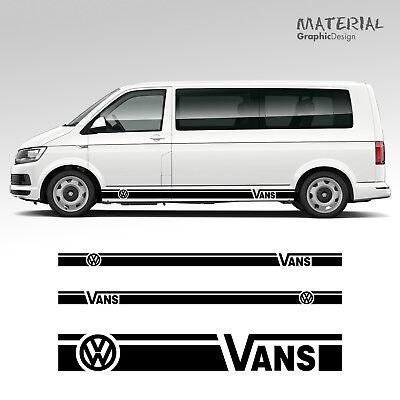 Vans VW Transporter Side Stripe Decal Van Skirt T4 T5 T6 Vehicle Graphic