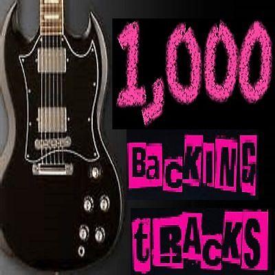 1000  GUITAR BACKING TRACKS , JAM TRACKS + GUITAR TABS , VARIOUS ROCK BANDS ERAS
