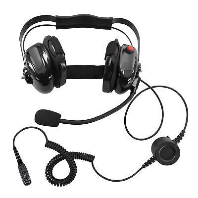 Heavy Duty Dual Muff Headset for Motorola DGP-4150 DGP-4150+ DGP-5050
