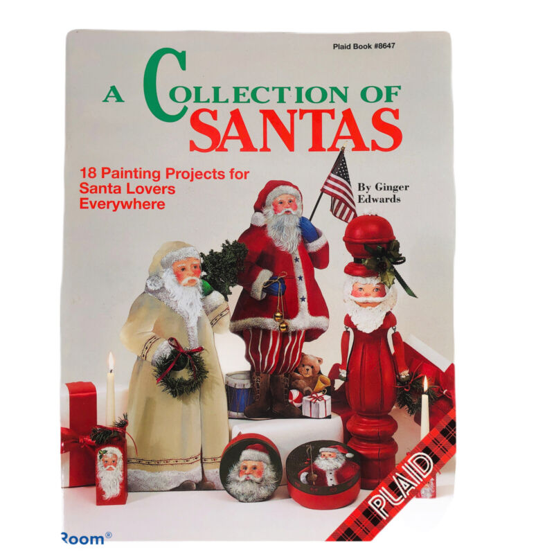 A Collection of Santas Ginger Edwards Book Folk Art Decorative Tole Painting