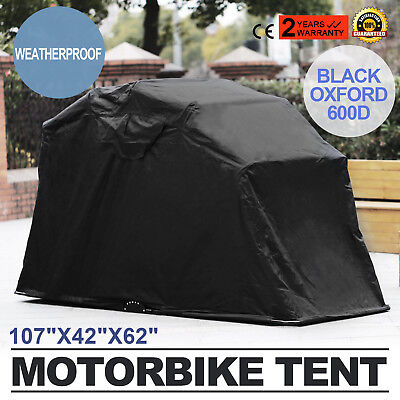Heavy Duty Motorcycle Shelter Shed Cover Storage Garage Tent - Motorcycle Storage Cover