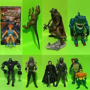 Assorted Action Figures Jurassic Park, Conan, Thundercats & More