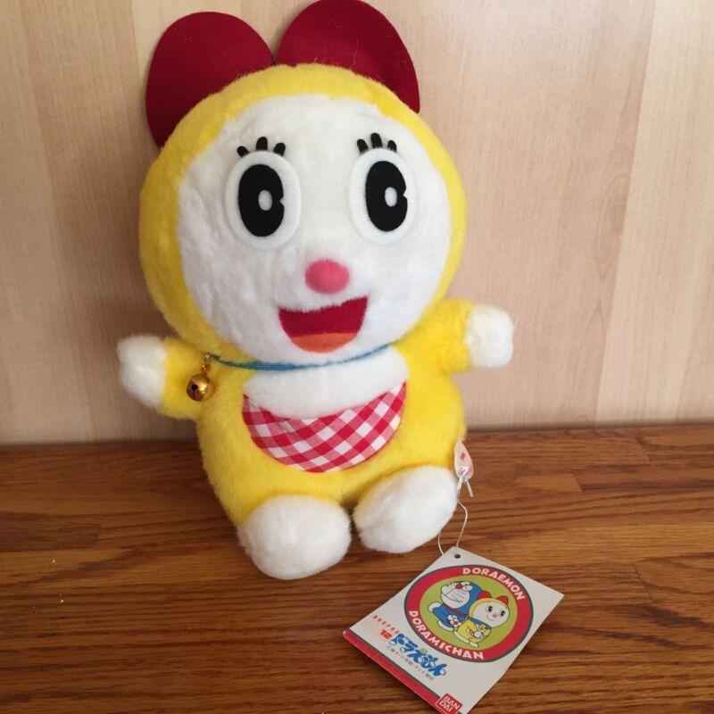 "NEW 1991 Vintage Bandai Japan Doraemon Doramichan 9"" Plush Character Figure"