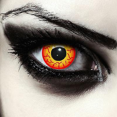 Gelb rote gruselige Kontaktlinsen für Halloween oder Darth Maul Kostüm: - Gelb Darth Maul Kostüm