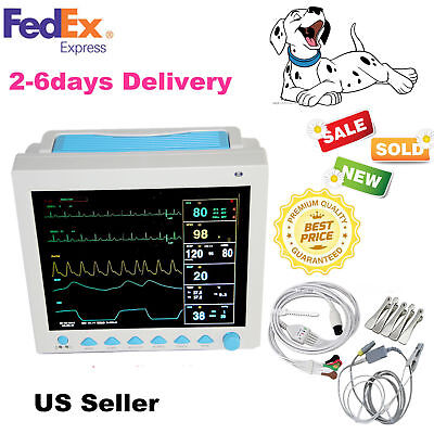 Vet Pet Veterinary Icu Monitoring Multiparameter Vital Signs Patient Monitornew