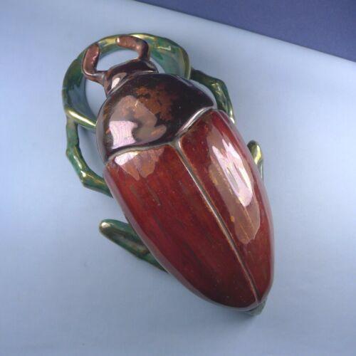Art Nouveau Period Beetle Bouquetière / Antique Scarab Vase Pique Flowers