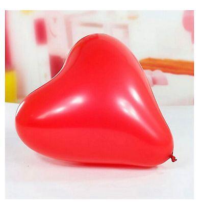 25X globos en forma de corazones rojos de látex San Valentín aniversario...