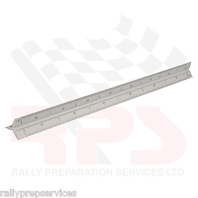 Aluminium Scale Tri Rule 300mm Triangluar Ruler Architects Engineers