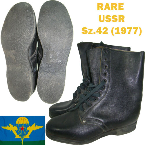 NEW Sz.42 VDV Airborne Jumping Soviet Calfskin perfect Leather Army FIELD Boots