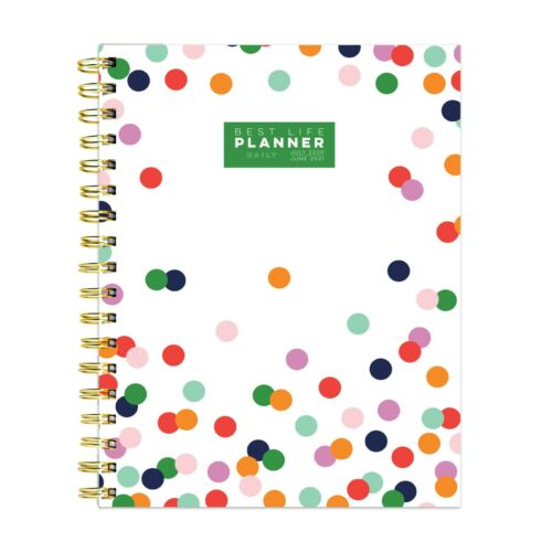 July 2020 - June 2021 Polka Preppy Dot Best Life DAILY Luxe Planner