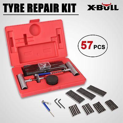 (X-BULL 57pc Tire Repair Kit DIY Flat For Car Truck Motorcycle Home Plug Patch)