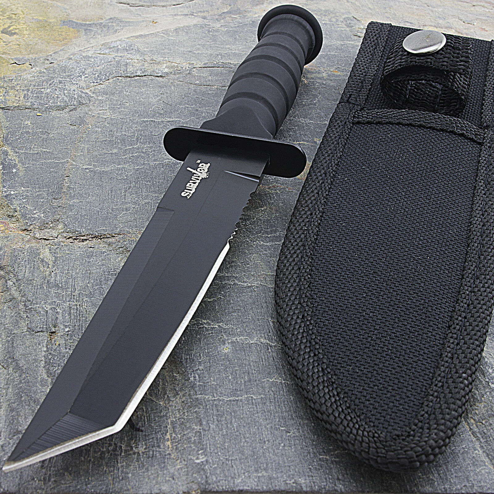 Купить Survivor - 7.5 MILITARY TACTICAL TANTO COMBAT KNIFE w/ SHEATH Survival Hunting Fixed Blade