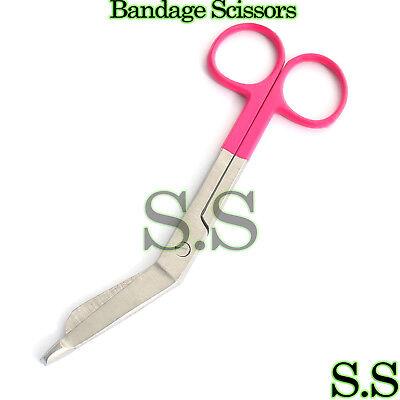 1 Lister Bandage Nurse Scissors - Color Handlespink