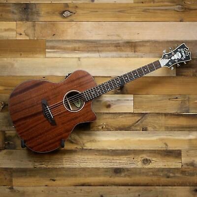 D'Angelico Premier Gramercy LS Acoustic-Electric Guitar Natural Mahogany