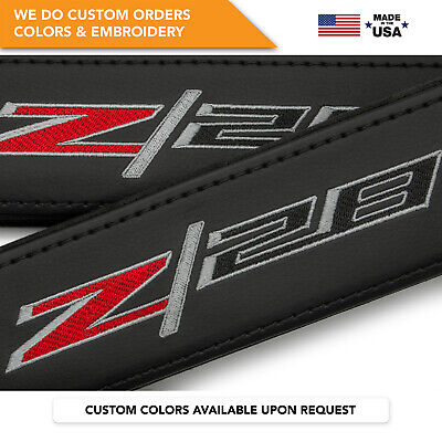 Seat Belt Covers Z/28 Shoulder Strap Pads Leather Fits Chevrolet Camaro Z28 2PCS